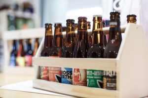 demi mètre de bière bouteille