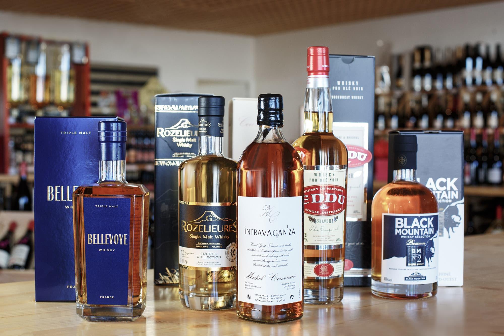 bouteilles de whiskys français